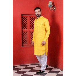 MLS YELLOW PATHANI SUIT