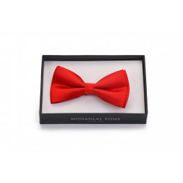 MLS Red Plain Bow Tie