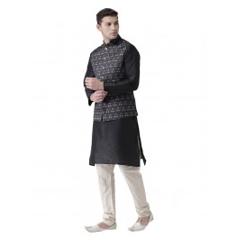 MLS Dark Grey Nehru Jacket
