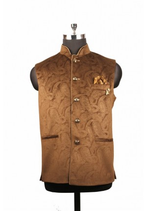 MLS Brown Velvet jawahar Jacket
