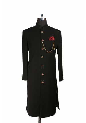 MLS Black Sherwani