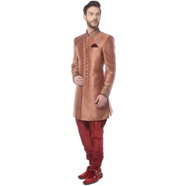 MLS Maroon Embroidered   Indowestern