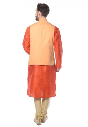 MLS  Orange Nehru Jacket