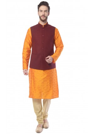 MLS Maroon Nehru Jacket