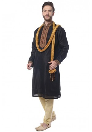 MLS Black Kurta Pajama