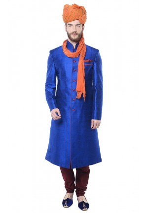 MLS Blue Sherwani
