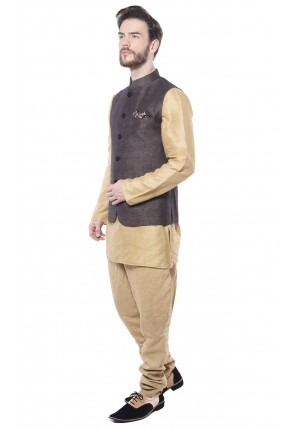 MLS Brown Nehru Jacket