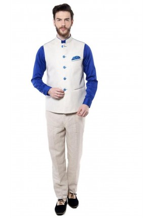 MLS Offwhite Nehru Jacket