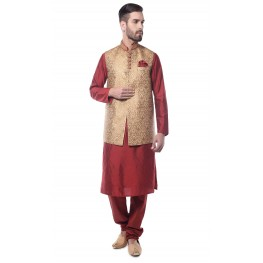 MLS Beige Kurta Set