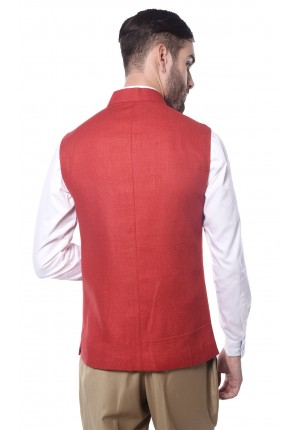 MLS Red Nehru Jacket