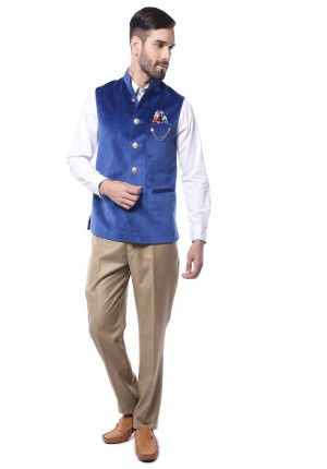 MLS Royal Blue Nehru Jacket