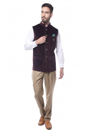 MLS Camel Nehru Jacket