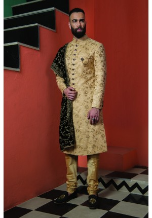 MLS Golden Sherwani