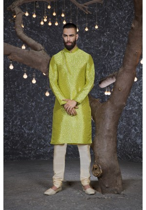 MLS Dark Green Kurta Pajama