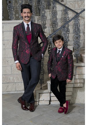 MLS Wine Matching Tuxedo for Father and Son