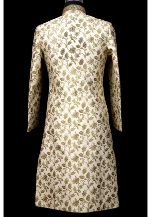 MLS Light Green Sherwani