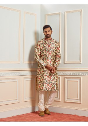 MLS Dark Gold Kurta Pajama