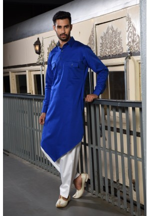MLS Blue Pathani Kurta