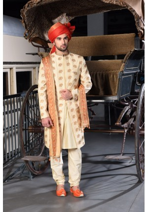 MLS Gold Sherwani