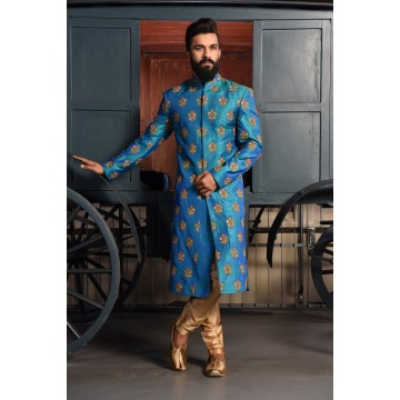 MLS Royal Blue Sherwani