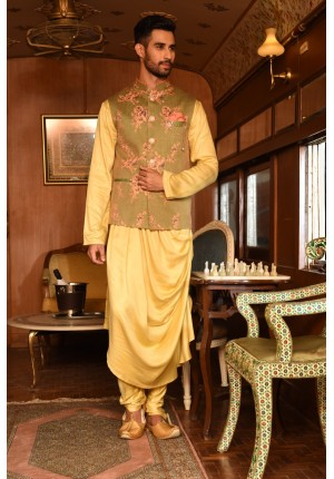 MLS Olive Kurta Set