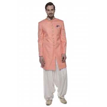 MLS Peach Color Indo-western