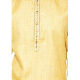 MLS Lemon Color Silk Cotton Kurta