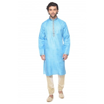 MLS Firozi Color kurta