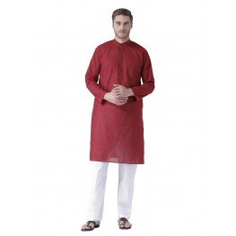 MLS Red Cotton Kurta