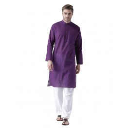 MLS Purple Color Cotton Kurta