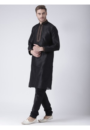 MLS Black Color Kurta Pajama
