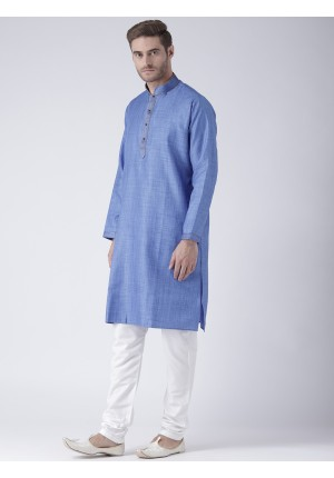 MLS Blue Color Kurta Pajama