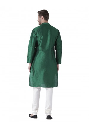 MLS Green Color Silk Kurta Pajama