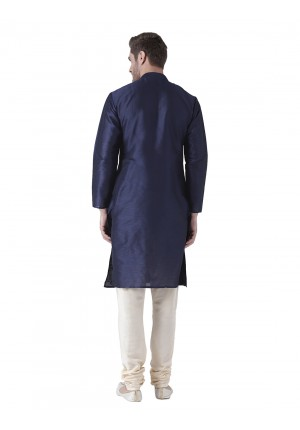 MLS Blue Color Silk Kurta