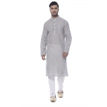 MLS Light Grey Kurta