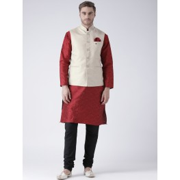 MLS Fawn color Nehru Jacket