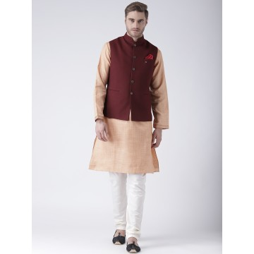 MLS Maroon Color Nehru Jacket