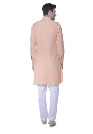 MLS Peach Pathani Kurta