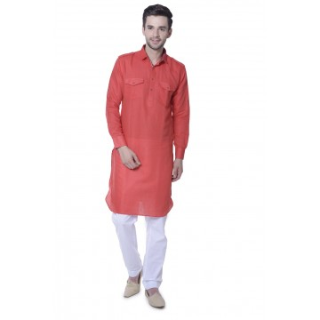 MLS Red Pathani Kurta
