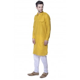 MLS Yellow Pathani Kurta