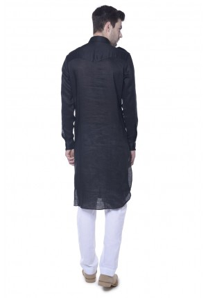 MLS Black Pathani Kurta