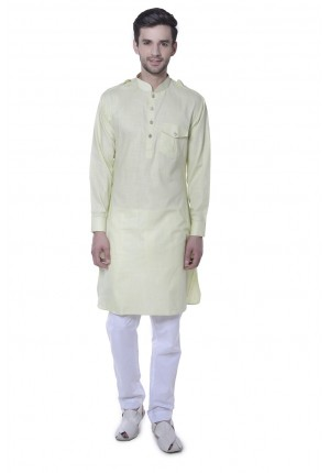 MLS Green Pathani Kurta Pajama