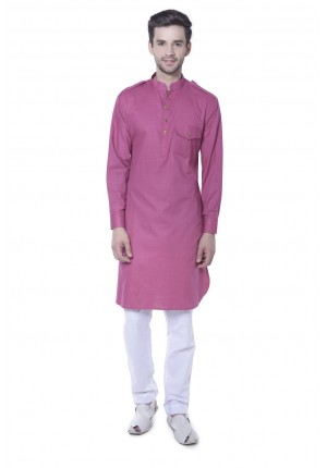 MLS Pink Pathani Kurta