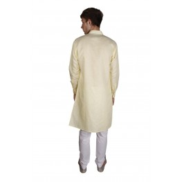 MLS Yellow Pathani Kurta Pajama
