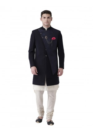 MLS Navy Blue Indowestern