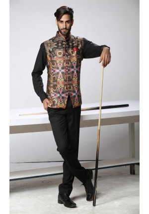 MLS Black Nehru Jacket