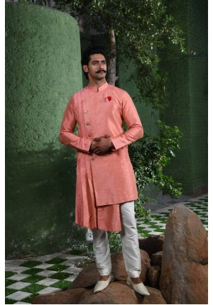 MLS Peach Kurta Pajama