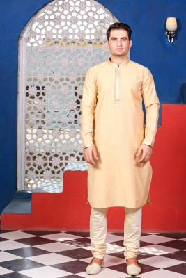 MLS GOLD KURTA PYJAMA