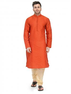 MLS Orange Kurta Pajama