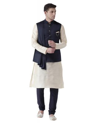 MLS Navy Blue Nehru Jacket